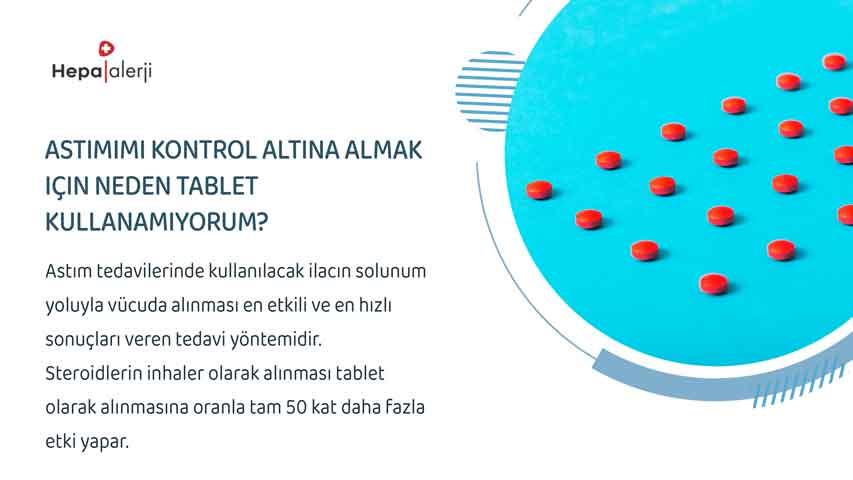 Astımımı kontrol altına almak için neden tablet kullanamıyorum?